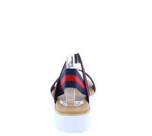 Pansy22 Navy Red Women's Sandal - Wholesale Fashion Shoes