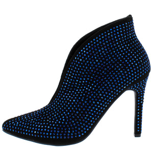 Pledge29s Black Blue Embellished Pointed Toe Boot - Wholesale Fashion Shoes ?id=13793079689260