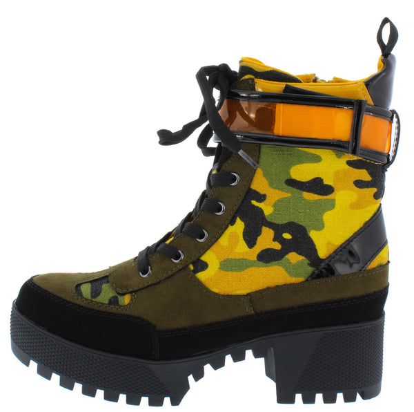 Powerful36 Yellow Camoflage Women's Boot - Wholesale Fashion Shoes