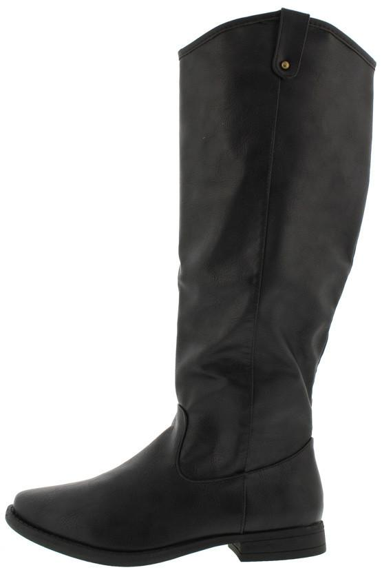 Primetime08v Black Studded Almond Toe Boot