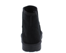 Load image into Gallery viewer, R001011 Black Sherpa Lug Sole Pull On Ankle Boot