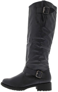 Relax122 Blue Buckle Riding Moto Boot