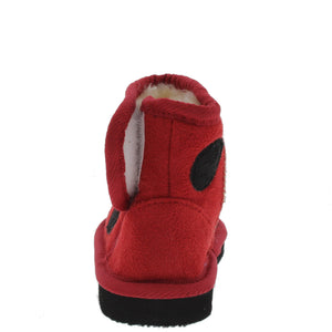 Rossi2 Red Infant Velcro Ladybug Boot