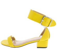 Load image into Gallery viewer, Tiffany090 Yellow Pu Women's Heel - Wholesale Fashion Shoes
