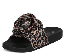 Load image into Gallery viewer, Sandy05 Leopard Rose Slide on Sandal - Wholesale Fashion Shoes ?id=1034024058893