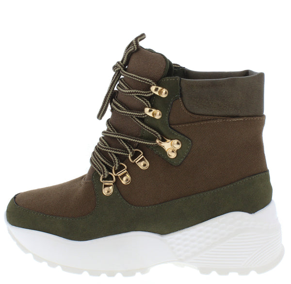 Sucker Punch Khaki Women's Boot - Wholesale Fashion Shoes