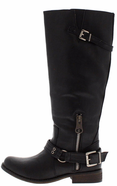 Tenessee15 Black Wide Calf Riding Boot