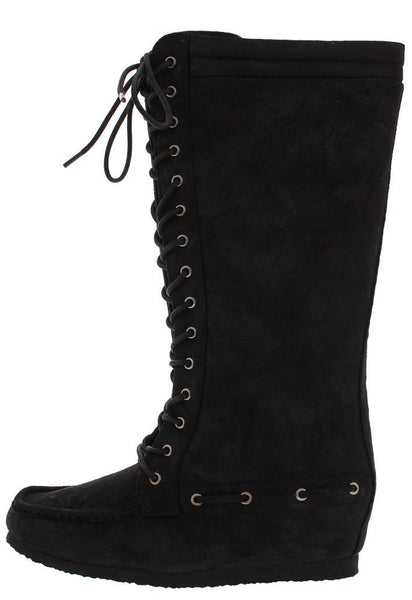 Totem8 Black Distressed Moccasin Boot