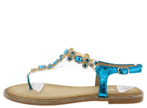 Tracy3100 Blue Women's Sandal - Wholesale Fashion Shoes