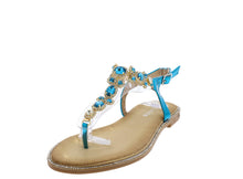 Load image into Gallery viewer, Tracy3100 Blue Women's Sandal - Wholesale Fashion Shoes