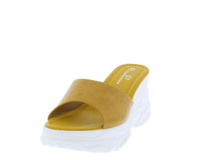 W820 Yellow Women's Wedge - Wholesale Fashion Shoes