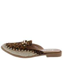 Load image into Gallery viewer, Wendy03 Leopard Almond Toe Horse Bit Espadrille Loafer Flat