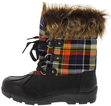 Load image into Gallery viewer, William1 Black Fur Trim Snow Boot