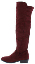 Load image into Gallery viewer, Alida32 Wine Round Toe Knee High Short Heel Boot - Wholesale Fashion Shoes