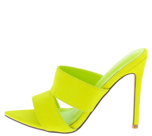 Crossing Lime Pointed Open Toe Cut Out Mule Stiletto Heel - Wholesale Fashion Shoes ?id=16541211033644