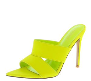 Crossing Lime Pointed Open Toe Cut Out Mule Stiletto Heel - Wholesale Fashion Shoes ?id=16541211000876