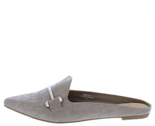 Load image into Gallery viewer, Diary27 Taupe Pointed Toe Metallic Bit Mule Loafer Flat - Wholesale Fashion Shoes ?id=16884977172524