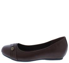 Load image into Gallery viewer, Inside7 Brown Round Toe Stitch Hardware Ballet Flat - Wholesale Fashion Shoes ?id=18158936358956