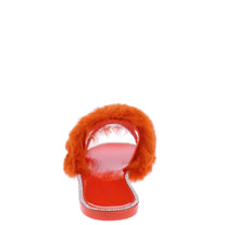 Load image into Gallery viewer, Diana075 Orange Faux Fur Open Toe Flat Slide Sandal - Wholesale Fashion Shoes ?id=18195328925740