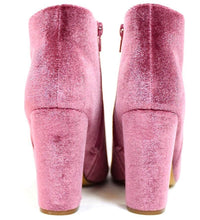 Load image into Gallery viewer, Alyssa2 Mauve Almond Toe Velvet Chunky Heel Ankle Boot