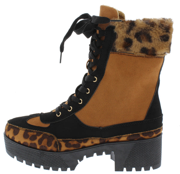 Powerful32 Leopard Women's Boot - Wholesale Fashion Shoes