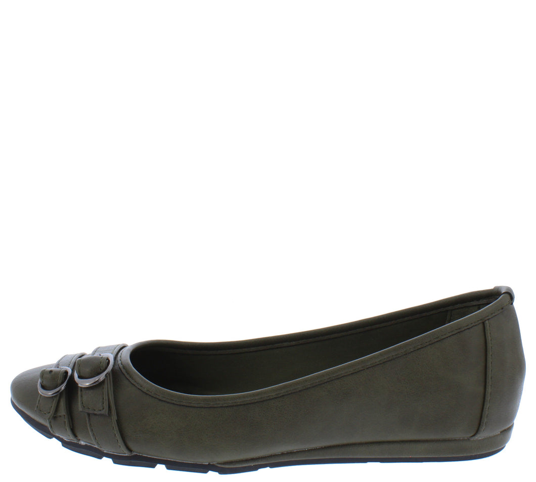 Serious01w Olive Women's Wide Width Comfort Flat - Wholesale Fashion Shoes ?id=18158709571628