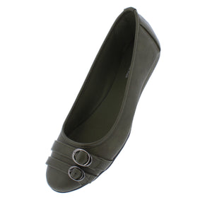 Serious01w Olive Women's Wide Width Comfort Flat - Wholesale Fashion Shoes ?id=18158709538860