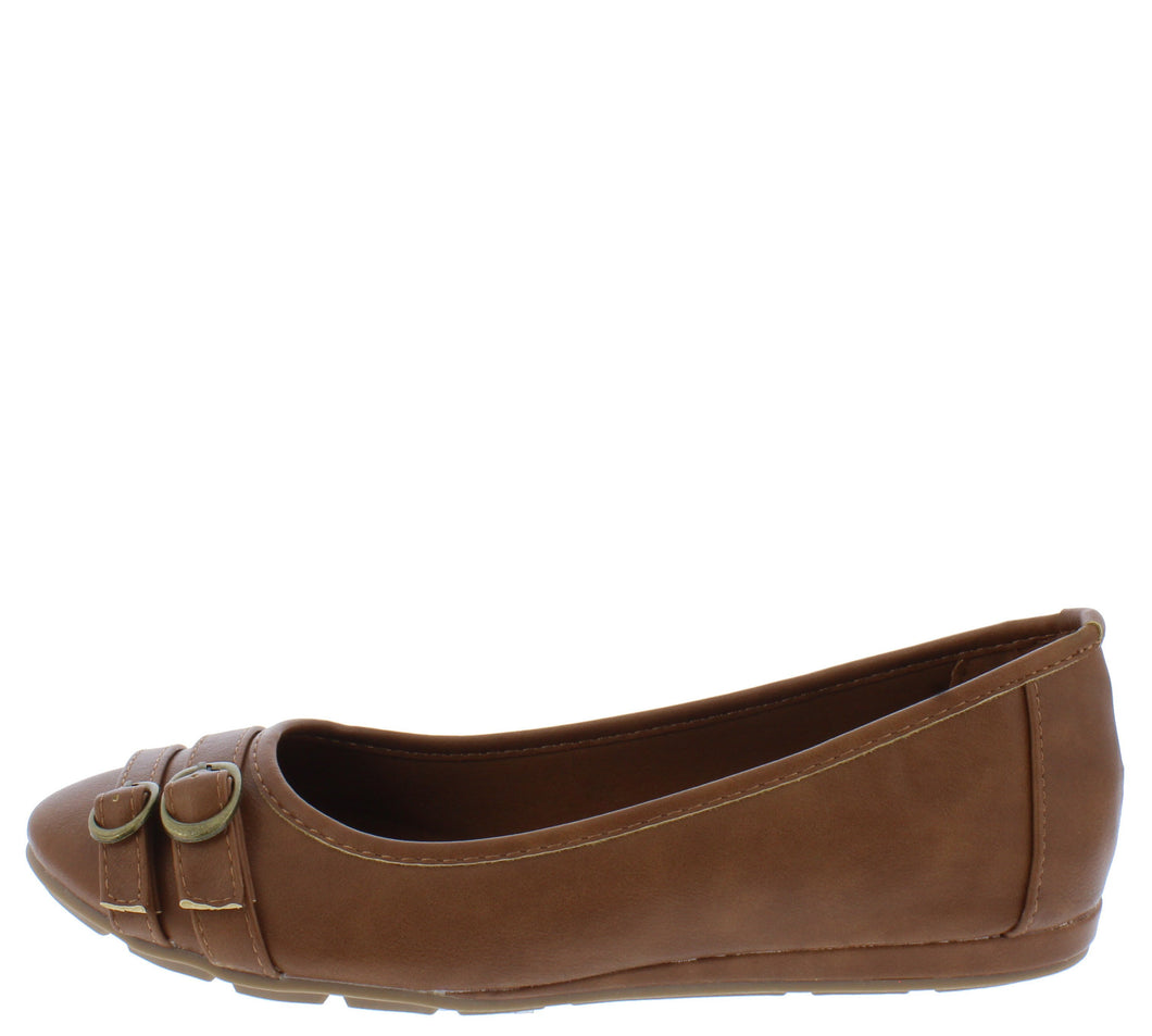 Serious01w Tan Women's Wide Width Comfort Flat - Wholesale Fashion Shoes ?id=18158797684780