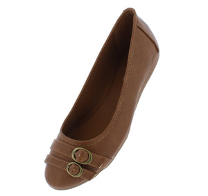Serious01w Tan Women's Wide Width Comfort Flat - Wholesale Fashion Shoes ?id=18158797717548