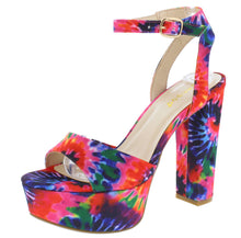 Load image into Gallery viewer, Shocking18 Hot Pink Tie Dye Women's Heel - Wholesale Fashion Shoes