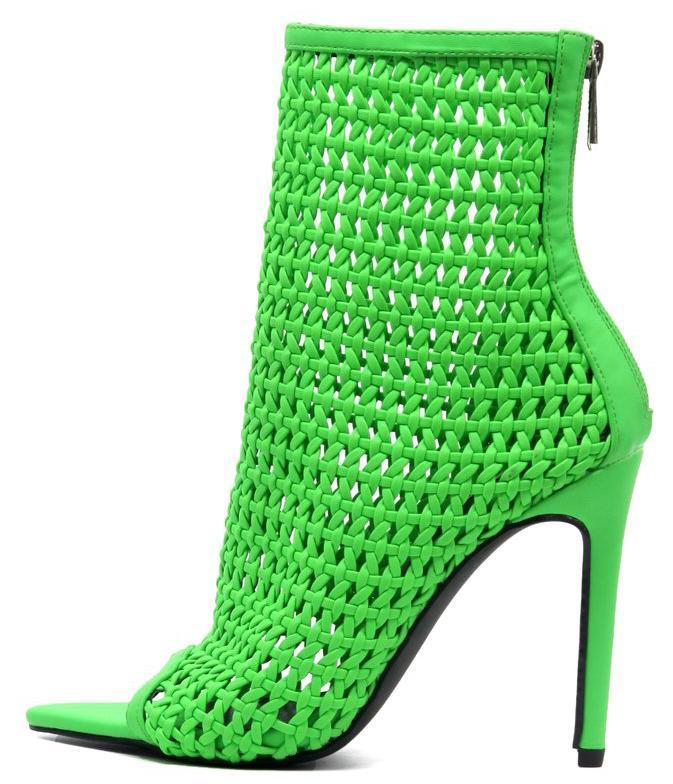 Weave Green Women's Boot - Wholesale Fashion Shoes