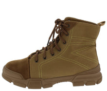 Load image into Gallery viewer, Wolf1 Tan Stitched Lace Up Hiking Boot