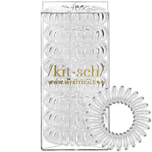 Kitsch 8 Pack Hair Coils - Transparent