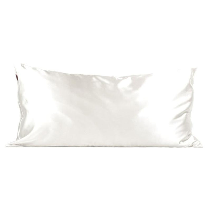 Kitsch Satin King Pillowcase - Ivory