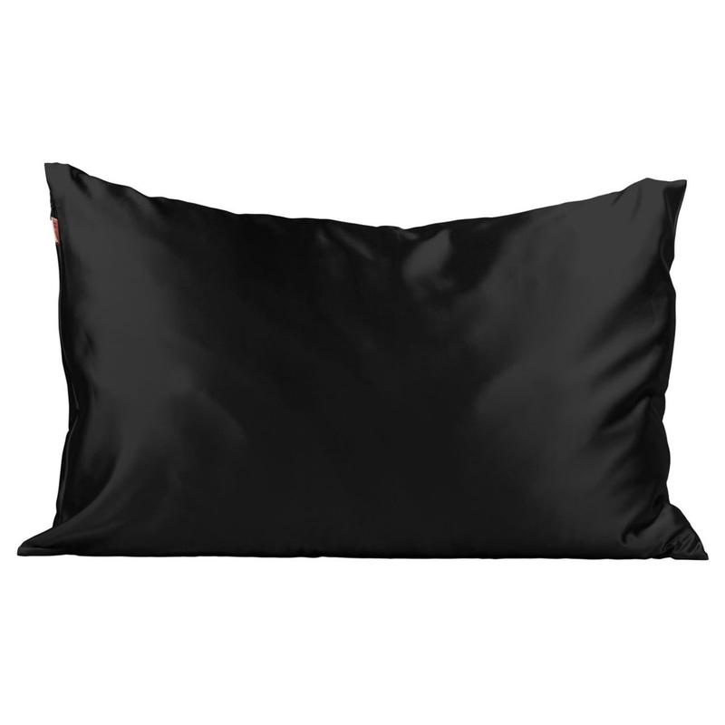 Kitsch Satin Standard Pillowcase - Black