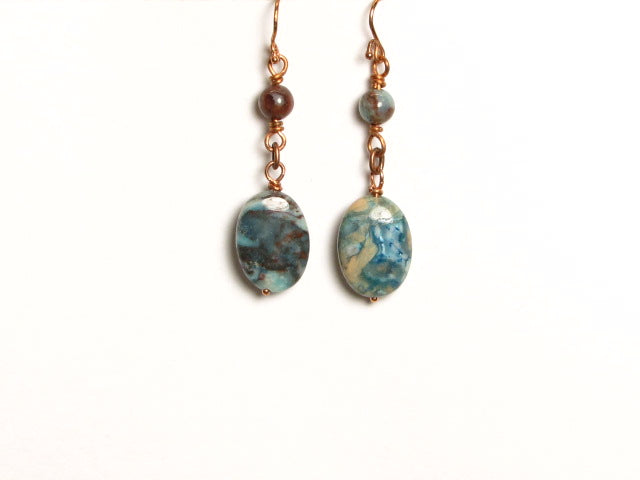 E264 BLUE CRAZY LACE JASPER