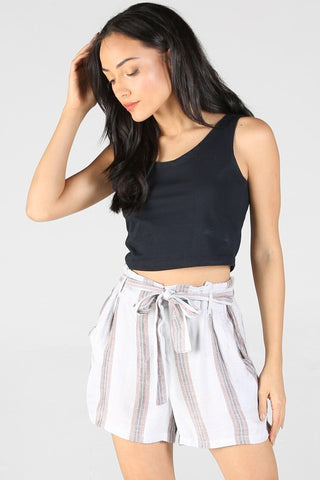 Striped Shorts With Lurex