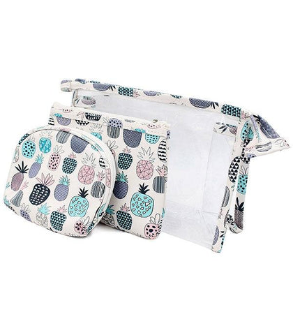 3PC Set Pineapple Makeup Bag