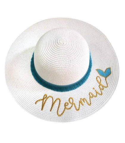 Mermaid Fine Tassel Trim Sun Hat