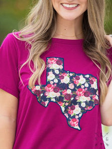 Forever Blooming Floral Texas Patch