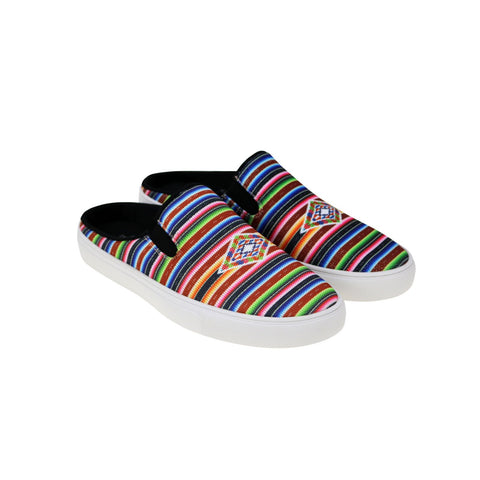 Montana West Southwestern Print Collection Sneaker Slides