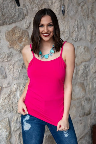Fuchsia Cami With Adjustable Straps