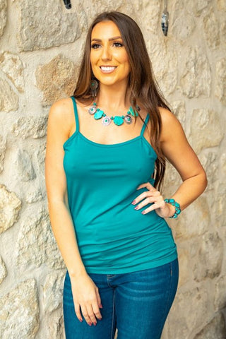 Jade Cami With Adjustable Straps
