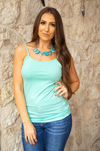Fresh Mint Cami With Adjustable Straps