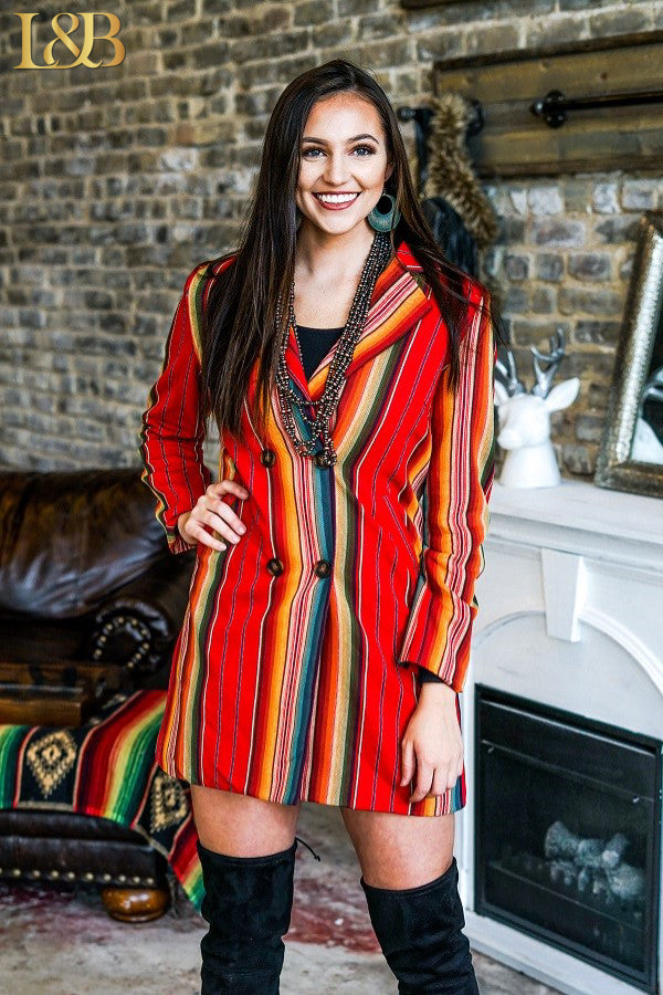 Red Serape Blazer