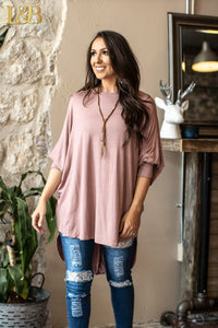 Ivory Hi-Low Dolman Tunic