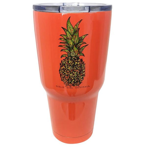 Leopard Pineapple Stainless Tumbler
