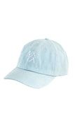 Light denim wash dad hat