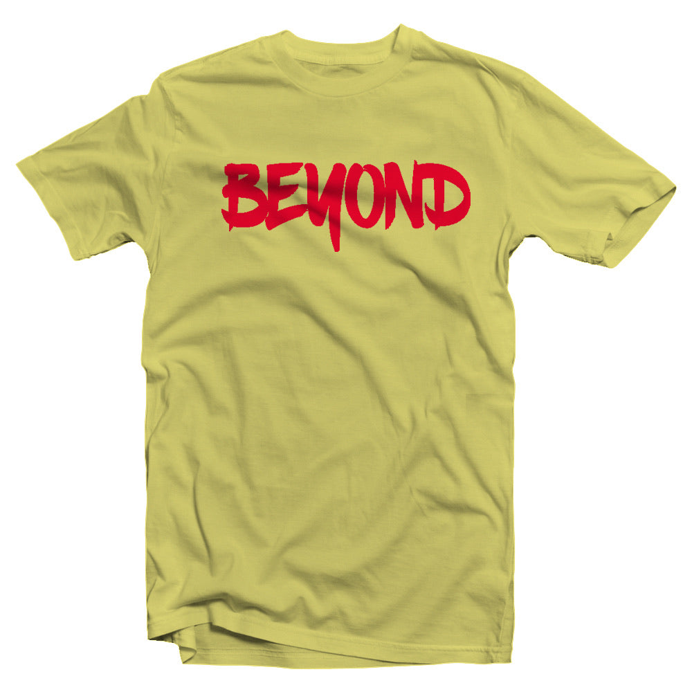 Yellow Beyond Tee w/Red Logo