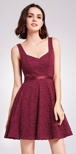 New Line Sleeveless V-Neck Women Elegant Cocktail Dress